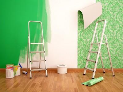 壁紙とペンキ塗りによる違い